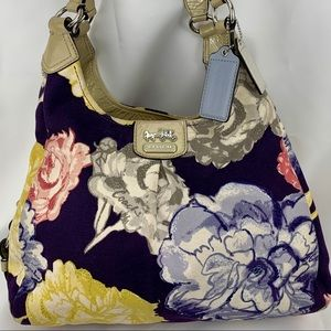🦩Coach🦩 Authetic Floral Canvas Soho Lynn Hobo